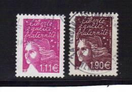 France  Timbre De 2003  N°3574/75  (1,11€ Et 1,90€ )   Timbres Oblitérés - 1997-04 Marianna Del 14 Luglio