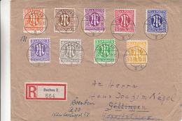 Allemagne - Alliés -  Lettre Recommandée De 1946 °  - Oblit Dachau - Exp Vers Göttingen Et Après Vers Dresden - American/British Zone