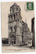 """1923-Beau Cachet Octogonal Ambulant""""BORDEAUX à PARIS 1--B"""" Sur Tp Pasteur 10c Le Tout Sur CPA Poitiers-86-cachet MAZE-49 - Marcophilie (Lettres)"""
