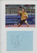 JORGEN PERSON (Suède) - Tennis De Table Ping Pong - Autographs