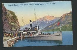 Lago Di Garda - Dalle Sponde Dell'italo Benaco Giunga Gradit Un Saluto    Obf1036 - Brescia
