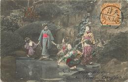 CHINE - Femmes Chinoises Et Enfants, Carte Envoyer De Tien Tsin En 1908 (cachet Tien Tsin) - Cina