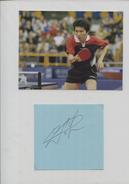 RIU SEUNG MING (Corée Du Sud) - Tennis De Table Ping Pong - Autographs
