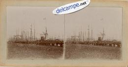 PHOTO  STEREOSCOPIQUE -     PORT  DE  GRANVILLE  (50)   Bateaux Dans Le Port  - Fin 1800 - Début 1900 - Fotos Estereoscópicas