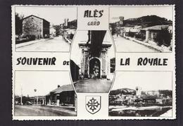CPSM 30 - LA ROYALE - ALES - SOUVENIR DE LA ROYALE - TB CP Multivue Dont CENTRE VILLAGE STATION SERVICE BP - France