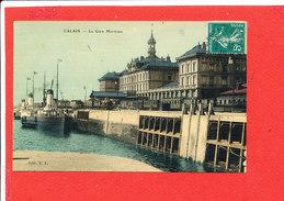 62 CALAIS Cpa Toilée La Gare Maritime  Edit T L - Calais
