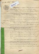 VP7730 -  MONTPEZAT - Acte De 1865 - Obligation Par FROUMENTY à GARRIGUES Au Moulin De La Coste Près De CASTELMORON - Manuscripten