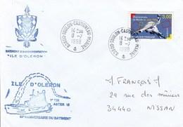 BATIMENT D'EXPERIMENTATION  ILE D'OLERON  1e TIR ASTER  ANNIVERSAIRE DU BATIMENT TOULON CASTIGNEAU 8/7/1998 - Marcophilie (Lettres)