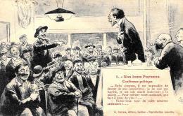 [DC3945] CPA - HUMOR - NOS BONS PAYSANS - CONFERENCE POLITIQUE - Viaggiata 1920 - Old Postcard - Cartoline