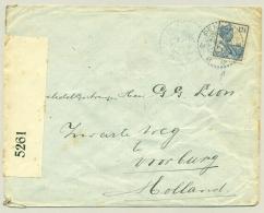 Nederlands Indië - 1918 - 12,5 Cent Wilhelmina Op Censored Cover Van KBu PENGALENGAN Naar Voorburg / Nederland - Niederländisch-Indien