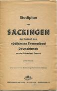 Stadtplan Von Säckingen 40er Jahre - 42cmx53cm - Alleinvertrieb Buchhandlung Otto Dontenwill Säckingen - Landkarten