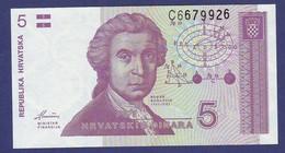 Croatia 1991 5 DINAR UNC - Croacia