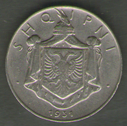 ALBANIA 1/2 LEK 1931 - Albanië