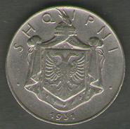 ALBANIA 1/2 LEK 1931 - Albania
