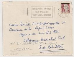MANQUE EA Sur DECARIS, TLEMCEN R.P. Algérie Sur Enveloppe. 12/7/1962. - Algérie (1962-...)