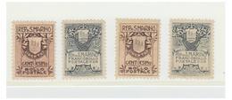 SAN MARINO -- FRANCO BOLLI -- N° 47/48/48A/49 -- COTE Y& T --250€ - San Marino