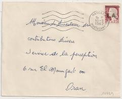 EA Sur DECARIS, MASCARA MOSTAGANEM Algérie Sur Enveloppe Pour Oran. 10/9/1962 - Algérie (1962-...)