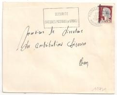 EA En VIOLET Sur DECARIS, MOSTAGANEM Algérie Sur Enveloppe Pour Oran. 13/9/1962 - Algérie (1962-...)