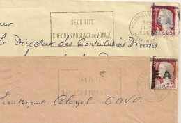 Surcharges Différentes EA Sur DECARIS, MOSTAGANEM Algérie Sur 2 Enveloppes. 11/9 ET 12/11/1962 - Algérie (1962-...)