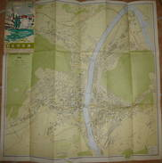 Olten 1948 - Übersichtsplan 67cm X 67cm Massstab 1:5000 - Landkarten