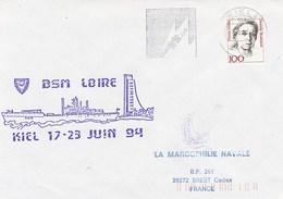 BSM LOIRE    KIEL ALLEMAGNE  KIELER WOCHE 1994 - Marcophilie (Lettres)