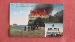 Cliff House On Fire  1907  California > San Francisco -2464 - San Francisco