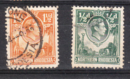 Rhodesia Nord   -   1938/41. George VI  Con Giraffa E Elefanti.Giraffe And Elephants