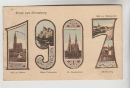 CPA STRASBOURG (Bas Rhin) - 1907 Gruss Aus......5 Vues - Straatsburg
