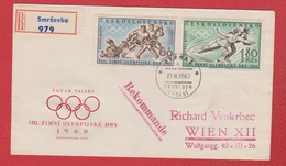 Tchécoslovaquie  --  Env Rec De Smrzovka  --  Pour Wien   -- 27/10/1960 - Cartas