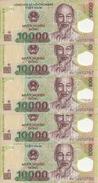 VIET NAM 10000 DONG 2010 UNC P 119 E ( 5 Billets ) - Vietnam