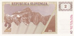 SLOVENIA  2 TOLARJEV    1990  FDS - Slovénie