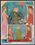 Umm Al Qiwain 1972 Dante Beatrice Imperatore Giustiniano Divina Commedia Paradiso Canto VI Miniatura Illustrazione - Umm Al-Qiwain