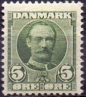 DENEMARKEN 1907-12 5öre Frederik VII PF-MNH