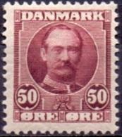 DENEMARKEN 1907-12 50öre Frederik VII PF-MNH