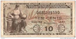 BILLETE DE ESTADOS UNIDOS DE 10 CENTS DEL AÑO 1951 CERTIFICADO PAGO MILITAR (BANKNOTE) - Sin Clasificación