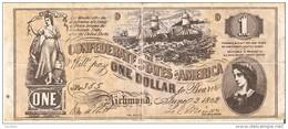 BILLETE DE ESTADOS UNIDOS DE 1 DOLLAR DEL AÑO 1862  (BANKNOTE) REPLICA - Small Size (1928-...)