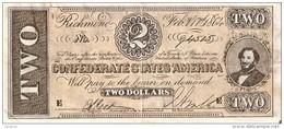 BILLETE DE ESTADOS UNIDOS DE 2 DOLLARS DEL AÑO 1864  (BANKNOTE) REPLICA - Small Size (1928-...)