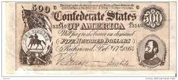 BILLETE DE ESTADOS UNIDOS DE 500 DOLARES DEL AÑO 1864  (BANKNOTE) REPLICA - Small Size (1928-...)