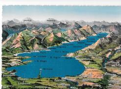 Cartoline Carte Geografiche-lago Di Garda - Maps