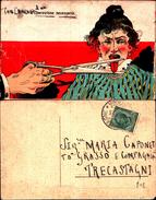 4638a)cartollina  Umoristica- Male Lingue..... - Humor