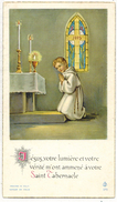 IMAGE PIEUSE HOLY CARD SANTINI CHROMO : Jésus Votre Lumière Et Votre Vérité Souvenir Nicole SERRE St REMY De DRAVEIL - Imágenes Religiosas