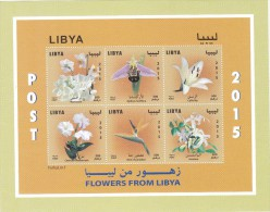 Libya New Issue 2015, Flowers Issued In Sheetlet Of 6 Stamps Compl.MNH- Nice Scarce Topical Issue-SKRILL PAY ONLY - Libya