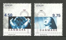 DENMARK 2001 EUROPA WATER MINERALS OMNIBUS SET MNH - Denmark