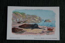 """Carte Publicitaire - Gustave Doré, Collection De La Kolarsine, Les Fables De La Fontaine,"""" Le Rat Et L'Huître """". - Publicités"""