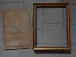 Cadre Bois---  35x44.5 Cm Dimensions Totale Vendu Sans Verre- 29x39.5cm Interieur Environ + Contreplaque - Art Populaire