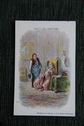 """Carte Publicitaire - Gustave Doré, Collection De La Kolarsine, Les Fables De La Fontaine,"""" Le Savetier Et Le Financier"""". - Publicités"""