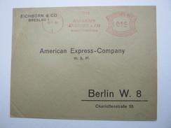 Firmen Freistempel , Meterstempel Auf Beleg Aus BRESLAU - Germany