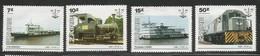 1985 Zaire Transportation Locomotives Trains Ferries Complete Set Of 4 MNH - Zaire