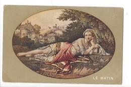 16261 - Le Matin Femme Couchée Dans Paysage Oval - Femmes