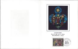 Encart De Luxe, Vitrail, Premier Jour Eglise Sainte Madelaine 1967 - 1960-1969